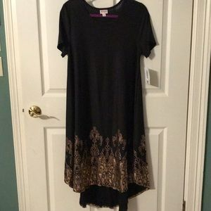 Lularoe Elegant Carly rose gold trim